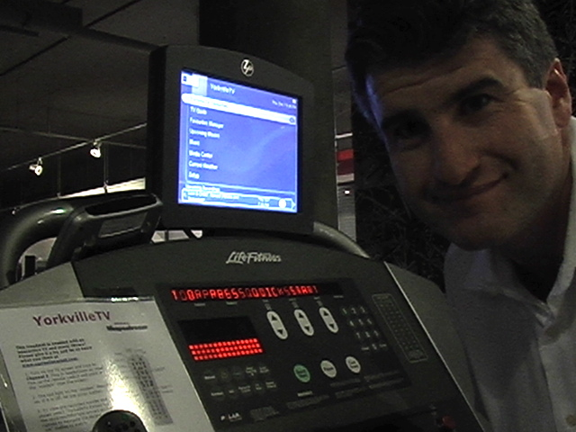 Alex on LifeFitness treadmill Dec 2006